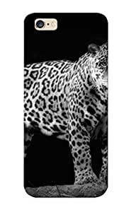 Christmas Day's Gift- New Arrival Cover Case With Nice Design For Iphone 6 Plus- Jaguar Wild Cat Black And White