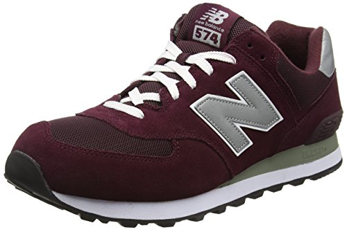 New Balance M_w574, Scarpe da Ginnastica Unisex Adulto Multicolore (Red/Grey/White)