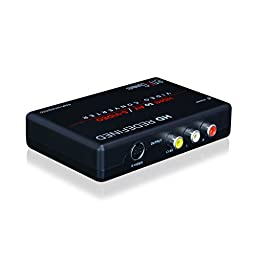 enKo products Mini HDMI To AV RCA Composite & S-video Video R/L Audio Converter With High Speed HDMI Cable (6.5 Feet / 2 Meter) , RCA Cable And S-Video Cable Included - Not for Windows 10
