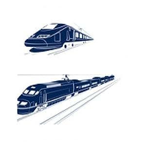 alfombrilla de ratón silueta del tren de pasajeros de alta velocidad - rectangular - 23cm x 19 cm