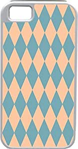 Design For Samsung Galaxy S5 Cover Diamond Pattern Design Sky Blue and PeaIdeal Gift