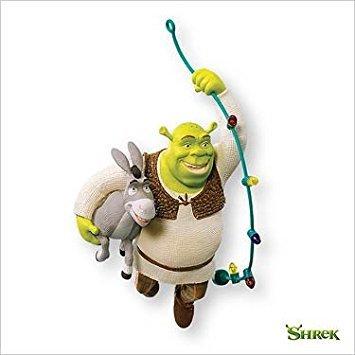 Deck The Swamp! Shrek and Donkey 2007 Hallmark Keepsake Ornament QXI4397
