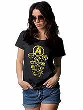 Women Black Infinity Shirt