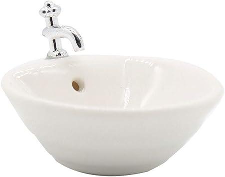 Dollhouse Bathroom Sink 1:12 Miniature Mini Wash Basin Bathroom Sink Model Toy
