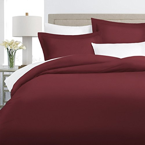 Italian Luxury 100% Long-Staple Combed Cotton Duvet Cover Set - Hypoallergenic Duvet Cover with Zippered Closure and Matching Shams - King/Cal King - (Duvet Sham)