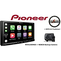 Pioneer MVH-2300NEX 7 Digital Multimedia Video Receiver with Apple CarPlay, Android Auto, Built-in Bluetooth, SiriusXM-Ready and AppRadio Mode w/ NDBC8 Backup Camera and a SOTS Freshener