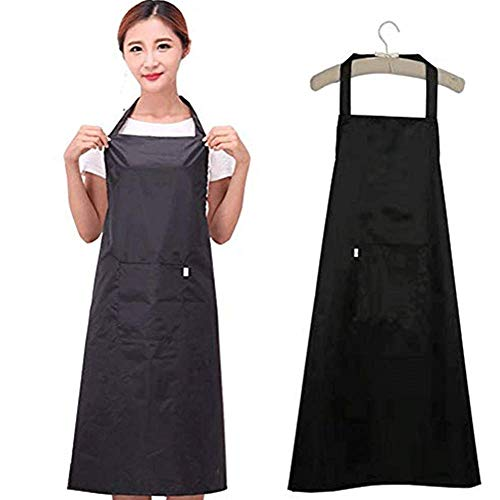 (K Y KANGYUN Wash Dishes Waterproof Apron Kitchen Garden Farmhouse Pockets Dog Groomers Aprons for Men)