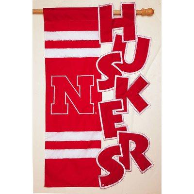 Sculpted House Flag--University of Nebraska