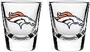 NFL Denver Broncos Shot Glass, 2-Pack