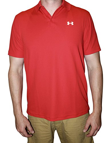 Under Armour Men UA Golf Performance Logo Polo T-Shirt (XL, Red) (Mens Red T Shirt Xl)