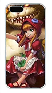 Annie League of Legends Game DIY Hard Shell For Ipod Touch 4 Phone Case Cover pc Case white