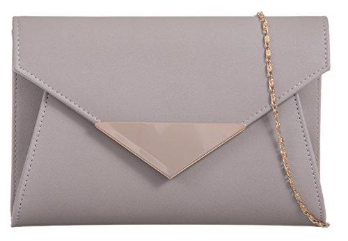 Flap Clutch Metallic Flap Bag Girly Grey Girly Metallic HandBags HandBags Clutch q0HEP0
