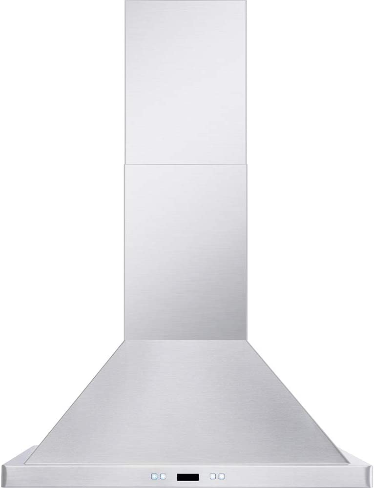 "DKB 36"" Inch Wall Mounted Range Hood Brushed Stainless Steel With Halogen Lights 600 CFM"