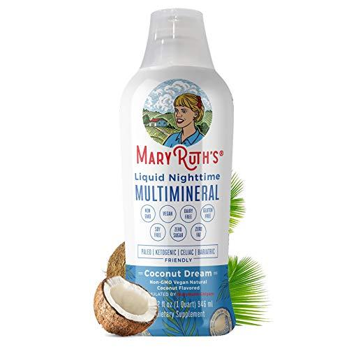 Liquid Multimineral Natural Sleep Aid by MaryRuth's, Sleep Drink with Vegan Vitamins, Magnesium, Calcium & MSM, NO…