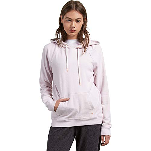 Volcom Junior's Lil Pullover Fleece Hoody Sweatshirt, Light Purple, Small