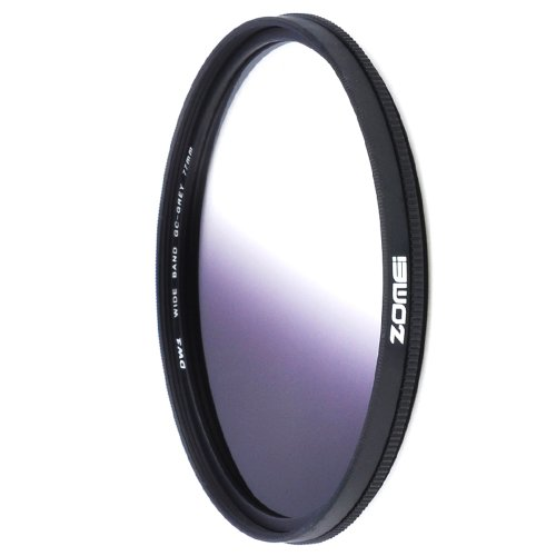 ZOMEI 77mm Ultra Slim Graduated Neutral Density Filter Gray by ZoMei