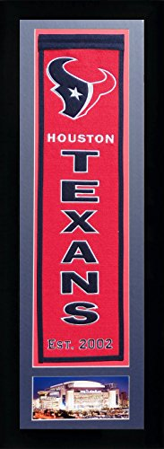 NFL Houston Texans Legends Never Die Team Heritage Banner with Photo, Team Colors, 15