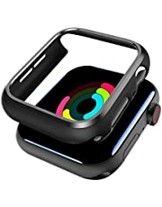 SPORTLINK 2Pcs Apple Watch Case 44mm for Series 4/5/6/SE - Shockproof Anti-Scratch Thin Bumper Matte Hard Cover Case for iWatch Series 4 2018/ Series 5 2019 Edition (2 Pack)