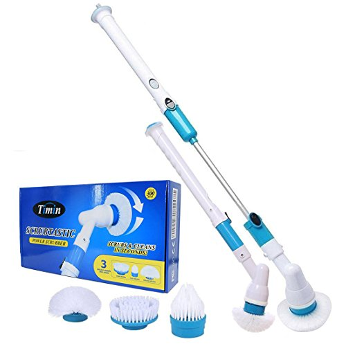 Spin Brush Scrubber for Bathroom - For Bathtub and Bathroom Floor and Wall Cleaning