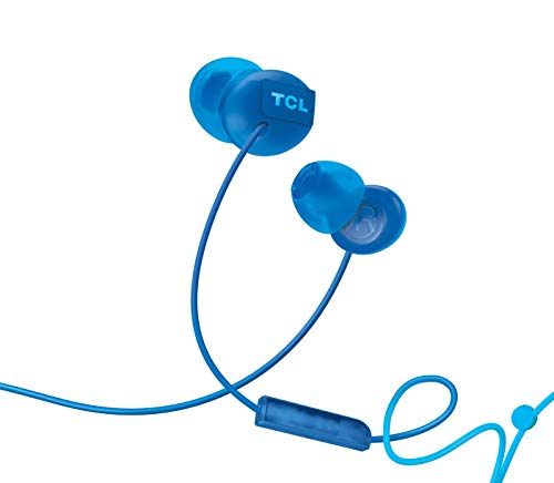 TCL SOCL300 in Ear Earbuds Wired Noise Isolating Headphones with Built in Mic and Echo Cancellation Ocean Blue