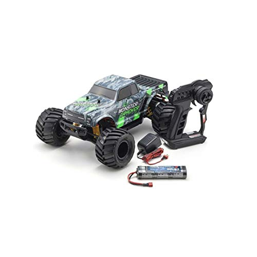 Kyosho Ready-to-Run RC Monster Truck Vehicle, Green/Grey from Kyosho