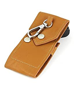 Oliasports Fairy Tail Lucy Pu Leather Keychain Bag Case Key Holder with Belt Loop, Brown, 5.11""