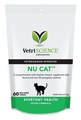 VetriScience Laboratories -  Nu-Cat, 60 Bite-Sized Chews