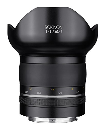Rokinon Special Performance (SP) 14mm F2.4 Ultra Wide Angle Lens with Built-in AE Chip for Canon ()