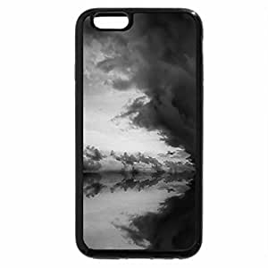 iPhone 6S Plus Case, iPhone 6 Plus Case (Black & White) - Cool Clouds and Sea