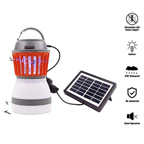 USB Charging Mosquito Killer Lamp LED Light Fly Electric Mosquito Lamp Camping Bug Zapper Mosquito Killer Insect Trap Lamp   with Solar Panel