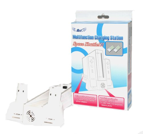 Wii Multifunction Charging Colling Fan Station + 2 Rechargeable Battery