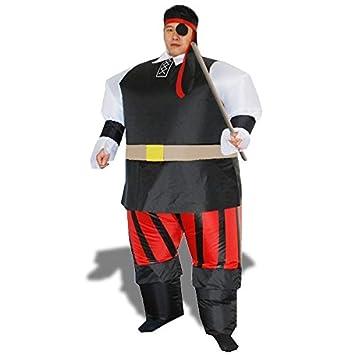 traje de pirata inflable del traje con el parche en el ojo ...