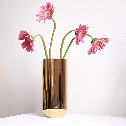 Mountain head ヨーロッパゴールデンローズゴールドステンレス鋼花瓶ソフトホームファニシングシンプル金属花瓶デスクトップの花 Mountain head (Size : B) B07QK9Z6V1  B
