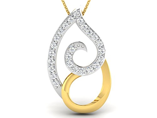 Or Jaune 14 ct Pendentifs Diamant , 0.05 Ct Diamant, GH-SI, 0.59 grammes.