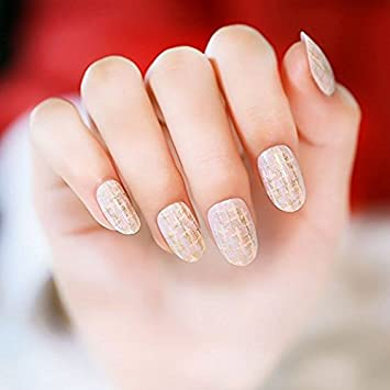Yunai uñas postizas uñas postizas estilo japonés - Golden ...