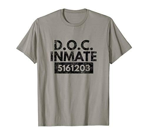 DOC Inmate Halloween Tee Prisoner Costume T Shirt Gift -