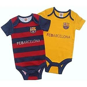 Bebé Clothing - Body para bebé (0 - 3 meses) (2 unidades) - Oficial del FC Barcelona Diseño bebé Fútbol Ideas de regalo: Amazon.es: Bebé