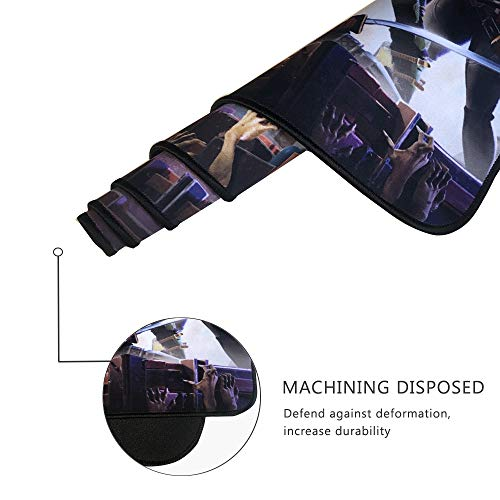 Alfombrilla de ratón Profesional para Videojuegos, diseño Personalizado, Bordes cosidos, Impermeable, Base de Goma Antideslizante, Ideal para portátil, Ordenador y PC 5