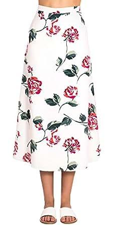 891aa7ad54 Mieuid Mujer Faldas Faldas Largas Verano Playa Elegantes Cintura Alta  Flores Impresión Vintage Lindo Chic Hippies Casual Falda Larga  Amazon.es   Ropa y ...