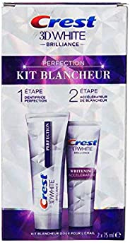 Crest 3D White Brilliance Toothpaste and Whitening Gel 2 Step System - 85 ml and 63 ml Tubes, packaging may va