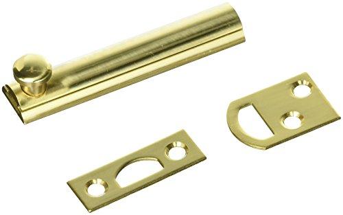 Polished Brass Slide Bolt - First Watch Security 1849 3