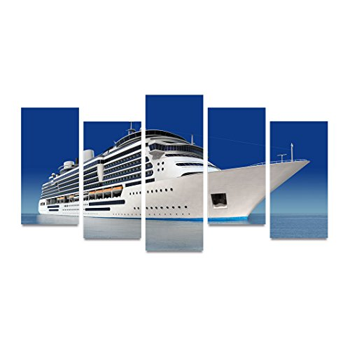 Modern Home and Office Wall Decor 5 Panels Canvas Wall Art Cruise (Cruise Ship Picture)