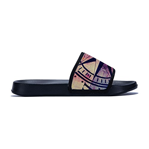 Non Slippers Buteri Wooden Womens Vintage Slippers Slip Compass Filter Black Drying Quick SafXaq