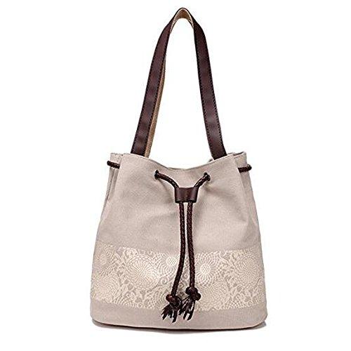 Borse a Tracolla Borse Da Donna Borse a Tracolla Mutil Function Borse a Tracolla Tote Handbags Bianco