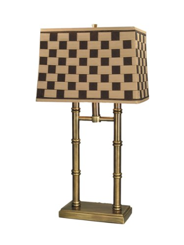 Dale Tiffany PT60348 Laredo Table Lamp, Antique Brass and Fabric (Basketweave Lamp)