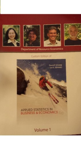 Custom Edition of Applied Statistics in Business & Economics, Fourth Edition Volume 1