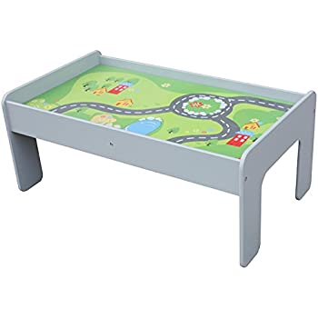 Pidoko Kids Train Table, Grey   Perfect Toy Gift Set For Boys U0026 Girls  (Gray)   Activity Table That Is Compatible With All Major Brand Train Tracks