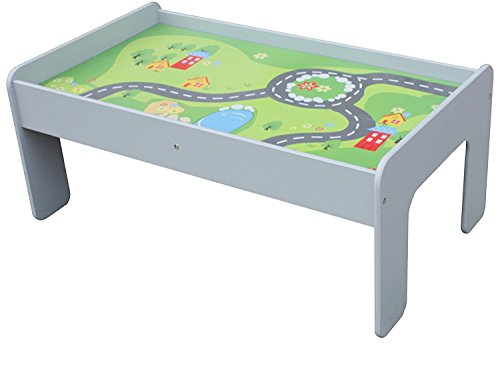 Pidoko Kids Train Table, Grey - Perfect Toy Gift Set for Boys & Girls (Gray) - Activity Table That is Compatible with All Major Brand Train -