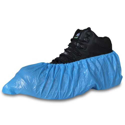 30 Pack Of Blue Disposable Overshoes For Shoes And Boots To Protect Carpets & ... Regal Polythene