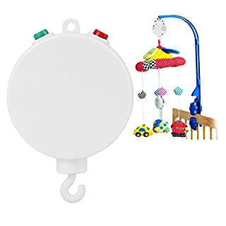Crib Toys,Mobile Baby Crib Toys Attachments by Battery Power Musical Electric Bell Toy with 12 pcs Looping Sweet Song Without Brackets